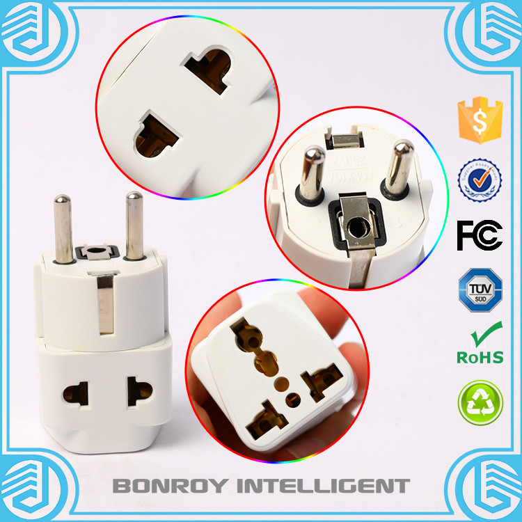 Universal USA UK AUS EURO to Germany France Korea Travel Adapter AC Power Plug