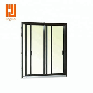 Double glass aluminum room door design