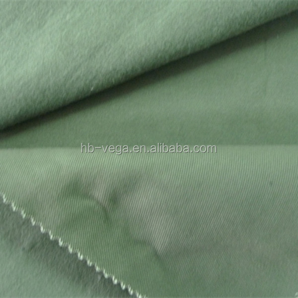 Heavy brush back cotton stretch/spandex fleece fabric
