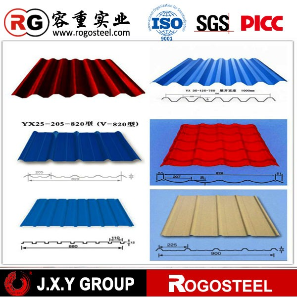 prepainted aluminum galvanized steel coil/ corrugated roofing sheet