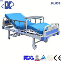 CE ISO FDA 3 function medical 2 cranks manual hospital bed
