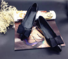 Black pointed toe custom women italian brand name shoes