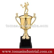 Fashion souvenir metal tennis ball trophy cup for victory
