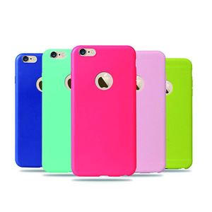 Extreme Thin Mobile Phone Candy Colors Housing Rubber Case for iPhone 5 5S