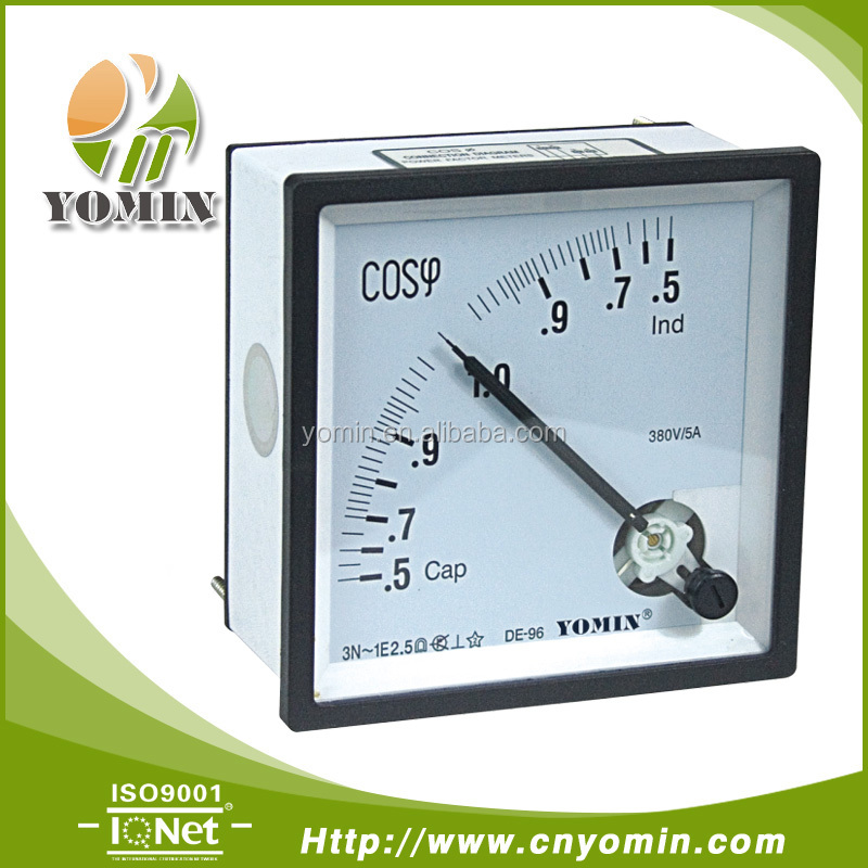 Manufacturer DT-PF96 Good Quality Power Factor Meter ,Analog Panel Meter 96*96 .