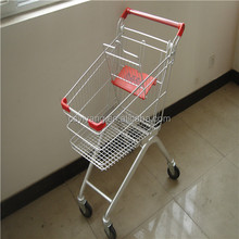 60-275 liters supermarket shopping trolley zinc plated with clear epoxy