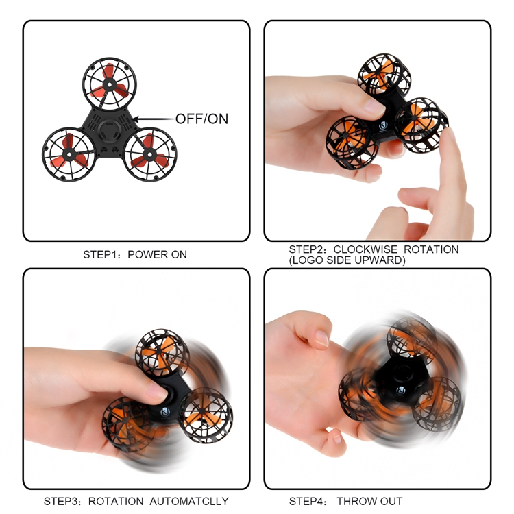 China manufacture for Children and Adult Can fly compass spinner flying hand spinner