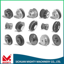 Aluminium timing pulley with bearing