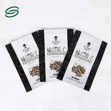 food flat bottom standup pouch / spice packaging supplies / stand up pouch kraft paper bags for nuts