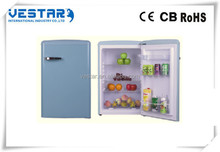 Wholesale R600a mulit color mini wine barrel half freezer half refrigerator 100l