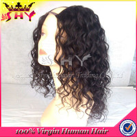 Wholesale afro kinky u part wig,100% human hair kinky curly u part wig