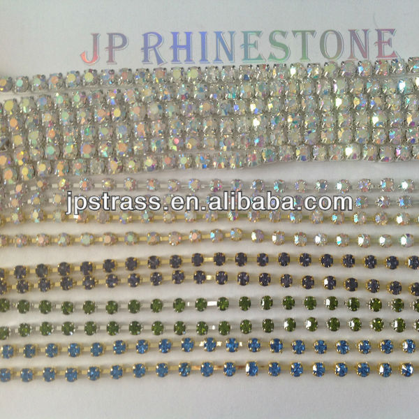 crystal rhinestone diamond cup chain