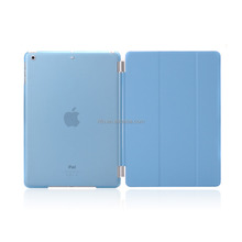 Full Protector Leather Hard Smart Cover and Rubberized Back Case for iPad Pro 9.7 Case, Detachable, Blue