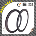 700C 38mm clincher carbon fiber road bike wheels U shape 25mm width internal drilling holes carbon rims