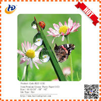 Water proof high quality inkjet glossy photo paper 115g supply all size from Huilin Digital