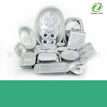 Disposable aluminum foil items for food packing
