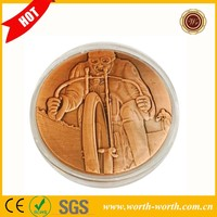 Goods From China American Military Soldier Low Price Cheap Challenge Coin, Brass Plated Coin Of United States Army