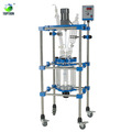 Hot Sale 20l 50l 100l Jacketed Glass Reactor