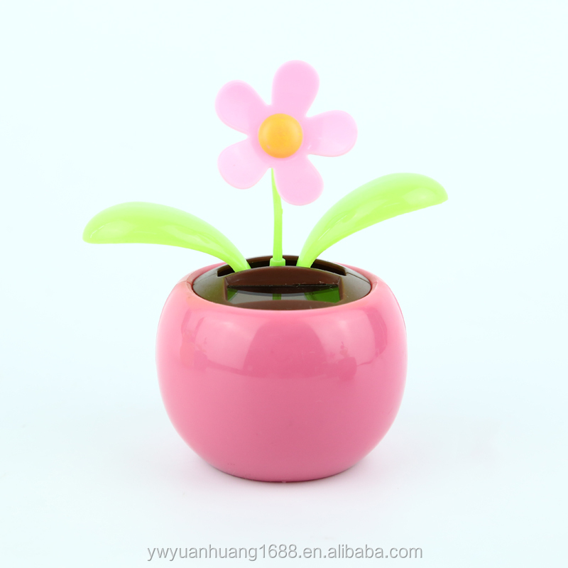 wholeware solar powered figure eletrontics product Car interior decoration toy, solar dancing flower