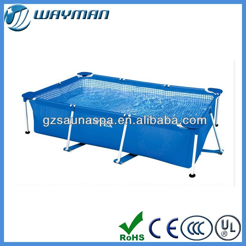 above ground swimming pool metal frame, rectangular above ground swimming pool, plastic swim pool