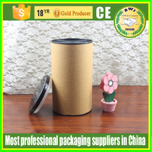 cheap food packaging cardboard tube with metal cap printed cylinder packaging box with inner foil cover