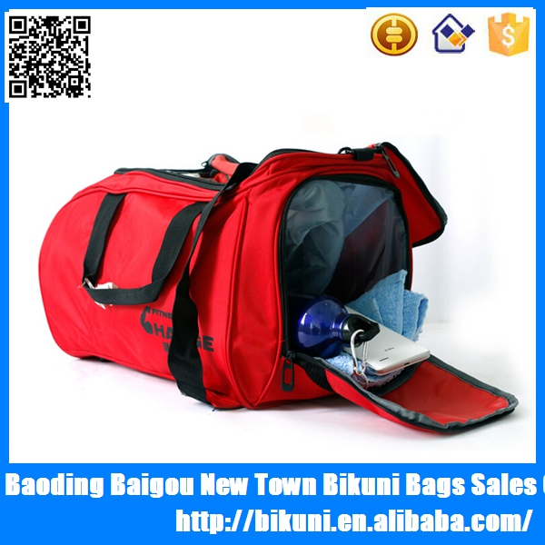 Hot sale online shopping custom sport bag fitness gym duffel bag organizer with shoe compartment