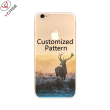OEM Service Small MOQ HD Printing IMD Customized Pattern Transparent TPU Custom Cell Phone Case for iphone 8