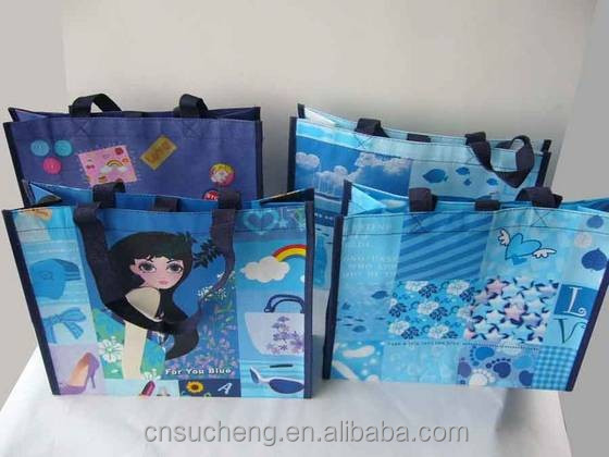 woven items laminated shopping bags woven carry bags