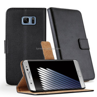 For samsung galaxy note7 Flip leather case, Stand leather wallet case for samsung note7, for SAMSUNG mobile phone