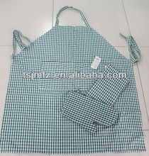 Wholesale promotion colorful non woven cooking kitchen apron with front pocket made in China