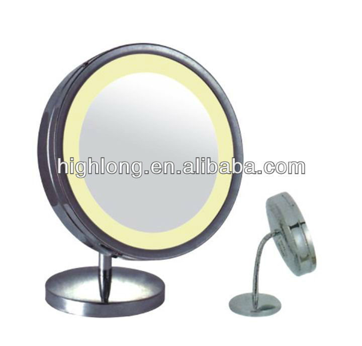 HL-3038 Room LED mirror lighted mirror battery operated makeup mirror