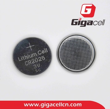 3V Lithium Manganese button cell CR2025 battery