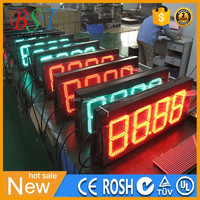 4 LED digit numbers programmable Reliable LED Gas Station signs