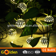 Top Sale Tree Cheap Mini Silver Ball Solar Christmas LED String Light