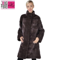 High Quality 100 % Real Mink Fur Women's Long Mink Fur Coat