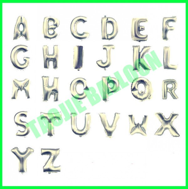 Foil letter balloon, Alphabet balloon