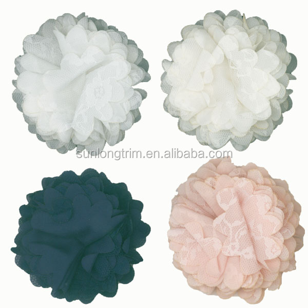 Flower type product decorative fabric flower for clothing