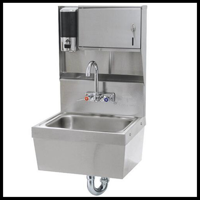 stainless steel Hospital knee operated hand washing sink / commercial stainless steel sink