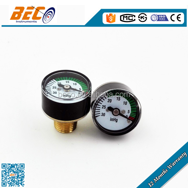 Factory price wika style 25mm negative pressure gauge with bourdon tube