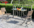 Space Saving Outdoor Rattan Wicker Garden Balcony Bar Hanging Folding Coffee Table and Chairs