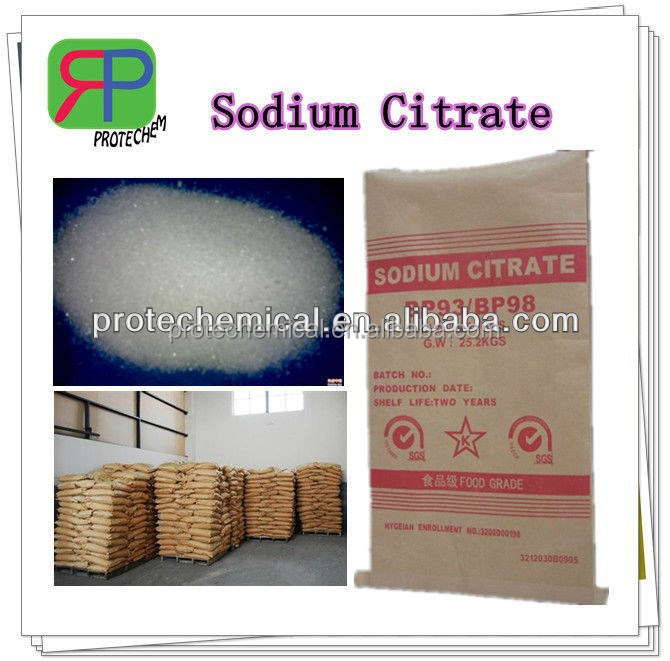 Food or pharmaceutical grade Sodium Citrate flavoring agent,flavors, Trisodium Citrate Dihydrate