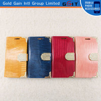High quality Leather Case Diamonds Cover Case For Samsung S3 Good Leather Diamond Wallets Cover