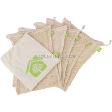 organic cotton reusable produce bags 5 pack