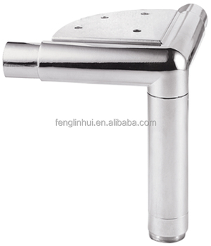 triangle metal chrome replacement sofa leg F376a