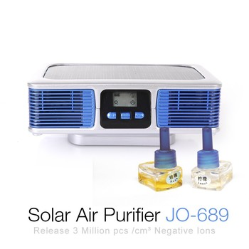 Ionkini Auto Solar Air Purifier JO-689 With Dual Aroma Diffuser