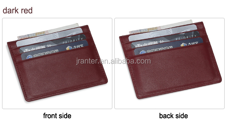 Jranter Custom Cowhide Genuine Leather Business Card Holder