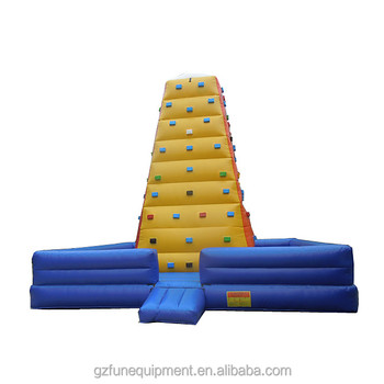 Hot sale factory price bouncy game  Inflatable kids Climbing Wall