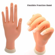 Flexible nail art fake training rubber practice hand