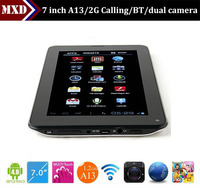Bluetooth dual camera 7 inch A13 android dvb-t phone tablet pc