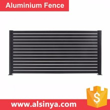 2017 New Style Aluminum Slat Fence for Courtyard Guarding